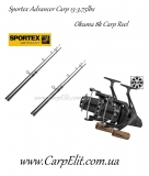 Sportex Advancer Carp 13-3,75lbs-2шт Okuma 8k Carp Reel 2шт