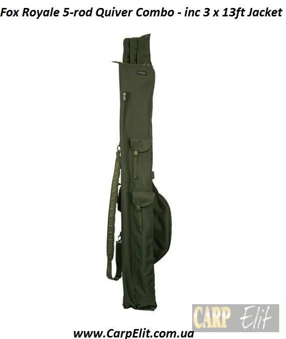 Fox Royale 5-rod Quiver Combo - inc 3 x 13ft Jacket