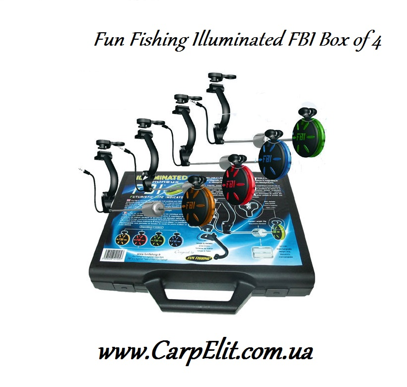 Свингера Fun Fishing Illuminated FBI Box of 4 (Red, Orange, Blue, Green)