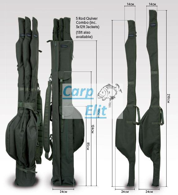 Fox Royale 5-rod Quiver Combo - inc 3 x 13ft Jacket