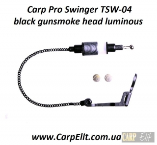 Carp Pro Swinger TSW-04 black gunsmoke head luminous