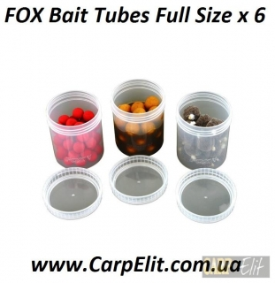 FOX Bait Tubes Full Size х 6