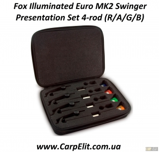 Fox Illuminated Euro MK2 Swinger Presentation Set 4-rod (R/A/G/B)