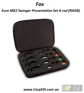 Fox Euro MK2 Swinger Presentation Set 4-rod (R/A/G/B)