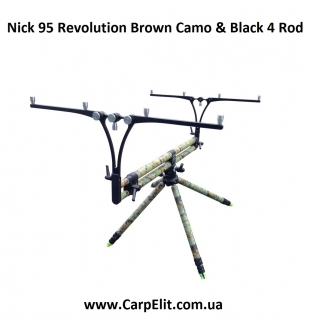 Nick 95 Revolution Brown Camo & Black 4 Rod