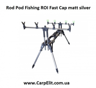 Rod Pod Fishing ROI Fast Cap matt silver
