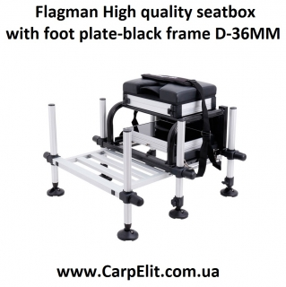 Flagman High quality seatbox with foot plate-black frame D-36MM