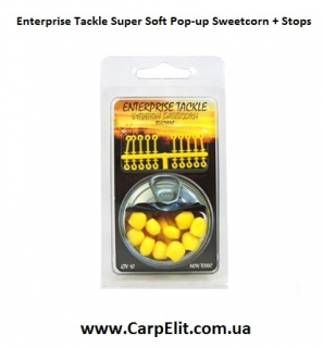 Enterprise Tackle Super Soft Pop-up Sweetcorn + Stops