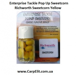Enterprise Tackle Pop Up Sweetcorn Richworth Sweetcorn Yellow