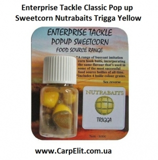 Enterprise Tackle Classic Pop up Sweetcorn Nutrabaits Trigga Yellow