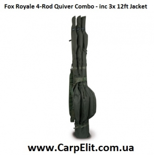 Fox Royale 4-Rod Quiver Combo - inc 3x 12ft Jacket