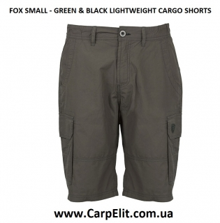 FOX - GREEN & BLACK LIGHTWEIGHT CARGO SHORTS