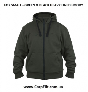 Толстовка FOX SMALL - GREEN & BLACK HEAVY LINED HOODY