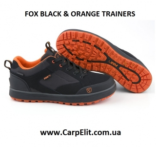 Кросовки FOX BLACK & ORANGE TRAINERS