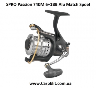 Катушка SPRO Passion 740M 6+1BB Alu Match Spoel