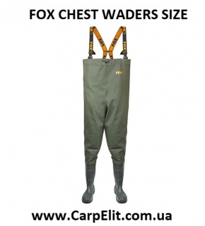 Вейдерсы FOX CHEST WADERS SIZE 9 / 43