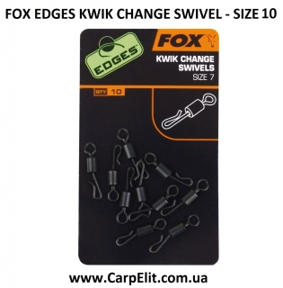 Вертлюг FOX EDGES KWIK CHANGE SWIVEL - SIZE 10