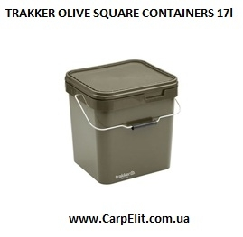 Ведро TRAKKER OLIVE SQUARE CONTAINERS 17l