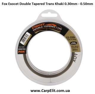 Леска конусная Fox Exocet Double Tapered Trans Khaki 0.30mm - 0.50mm