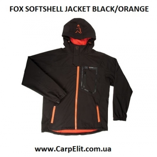 Курточка FOX SOFTSHELL JACKET BLACK/ORANGE