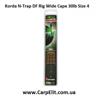Волосяная оснастка Korda N-Trap DF Rig Wide Cape 30lb Size 4