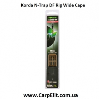Волосяная оснастка Korda N-Trap DF Rig Wide Cape 30lb Size 6