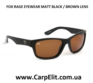 Очки FOX RAGE EYEWEAR MATT BLACK / BROWN LENS