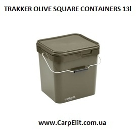 Ведро TRAKKER OLIVE SQUARE CONTAINERS 13l