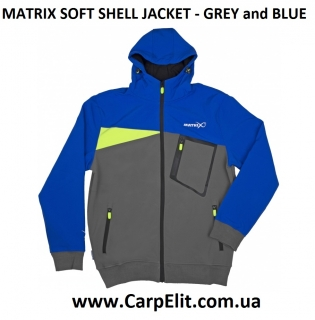 Ветровка MATRIX SOFT SHELL JACKET - GREY and BLUE