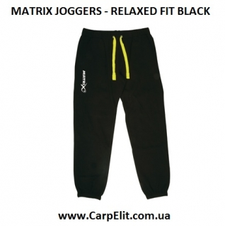 Штаны MATRIX JOGGERS - RELAXED FIT BLACK