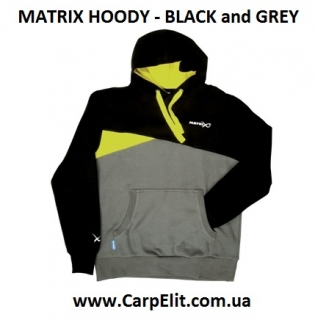 Толстовка MATRIX HOODY - BLACK and GREY