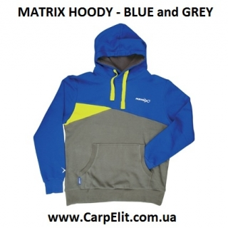 Толстовка MATRIX HOODY - BLUE and GREY