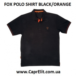 Рубашка поло FOX POLO SHIRT BLACK/ORANGE