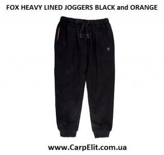 Штаны FOX HEAVY LINED JOGGERS BLACK and ORANGE