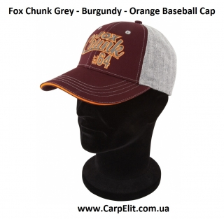Кепка Fox Chunk Grey - Burgundy - Orange Baseball Cap