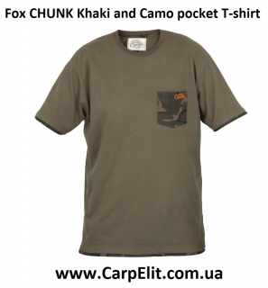 Футболка Fox CHUNK Khaki and Camo pocket T-shirt