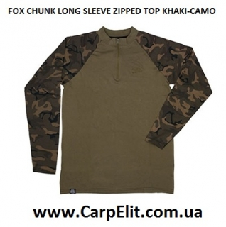 Толстовка FOX CHUNK LONG SLEEVE ZIPPED TOP KHAKI-CAMO