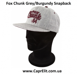 Кепка Fox Chunk Grey/Burgundy Snapback