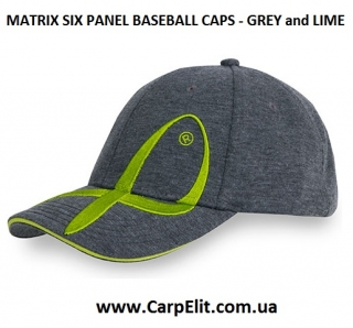 Кепка MATRIX SIX PANEL BASEBALL CAPS - GREY and LIME