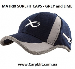 Кепка MATRIX SUREFIT CAPS - GREY and LIME