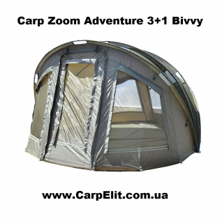 Карповая палатка Carp Zoom Adventure 3+1 Bivvy