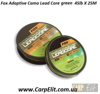 Fox Adaptive Camo Lead Core green 45lb X 25M