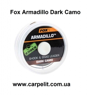 Шок лидер плетеный Fox Armadillo Dark Camo