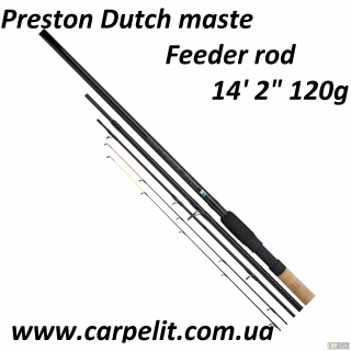 "Фидерное Удилище Preston Dutch maste  14' 2"" 120g  Feeder rod"