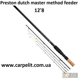 Фидерное удилище Preston dutch master method feeder 12'8""